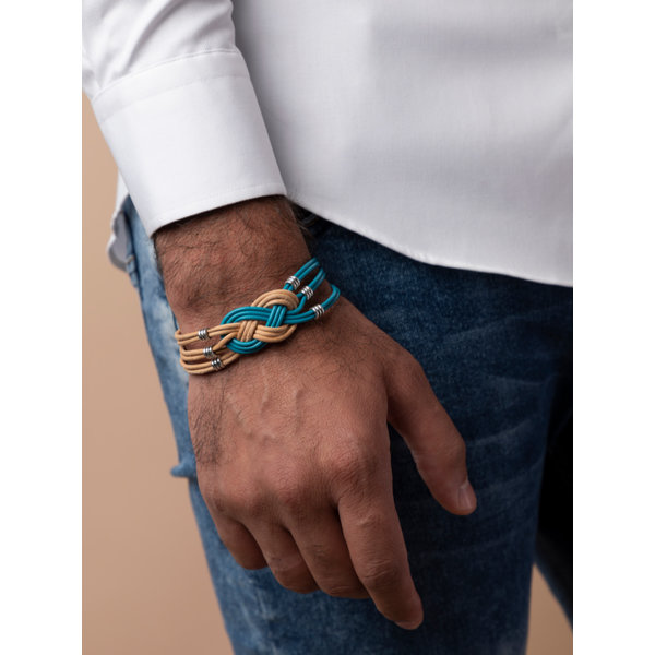 Make Mens Leather Bracelet  with Celtic Knot