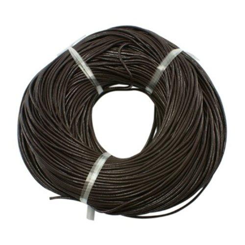 3 meters DQ Leather 1mm Dark Brown