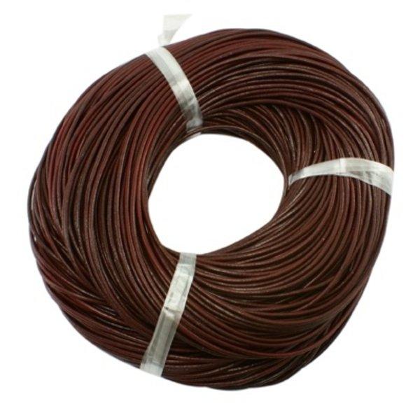 Cowhide Leather Cord 1mm Brown, 3 meter