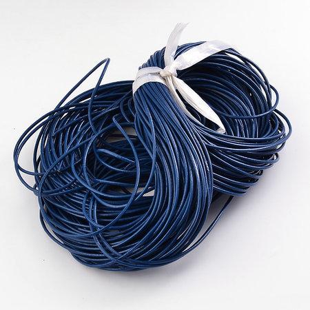 3 meter DQ Leer 1mm Blauw