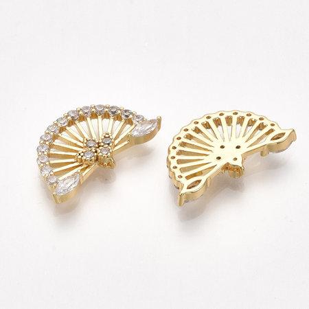 Fan Link Nickel Free Gold Plated 10x17x2mm