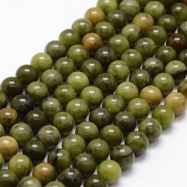 Natural Groen Jade Kralen 6mm, streng 60 stuks
