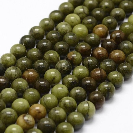 Natural Green Jade Beads 4mm, strand 80 pieces