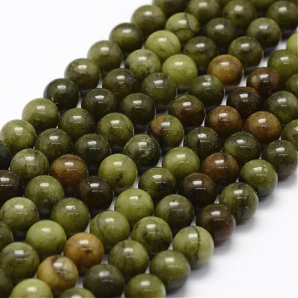 Natural Green Jade Gemstone Beads 4mm, strand 80 pieces