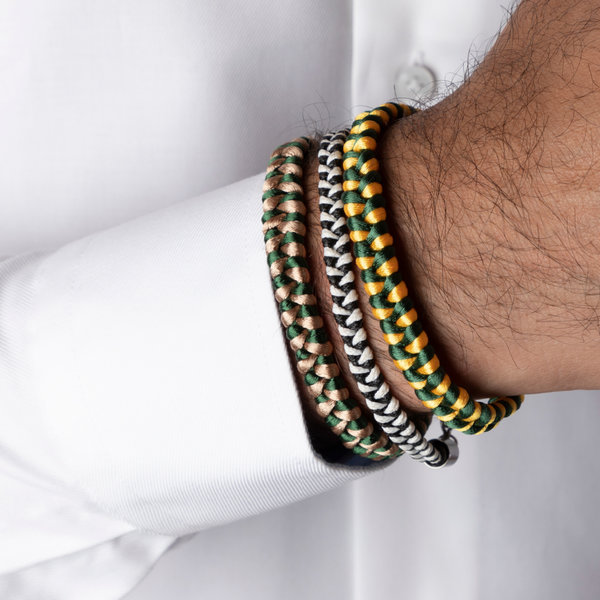 How to Braid a Men's Bracelet with Satin or Waxed Cord