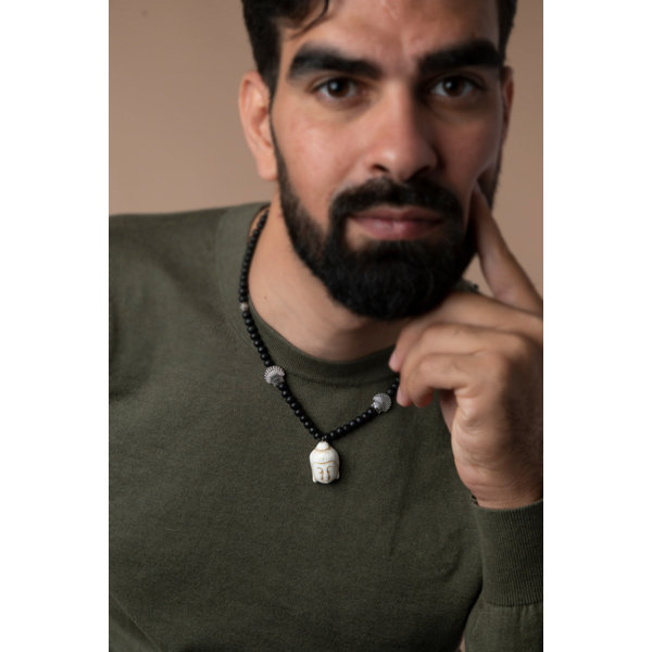 Make Mens Necklace  with Buddha Charm