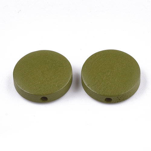 5 pieces Natural Wooden Beads Round Olive 15mm