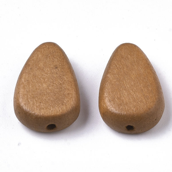 Natural Wooden Beads Teardrop Brown 18x12mm, 5 pieces