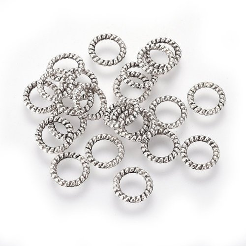 30 Pieces Charm Karma Antique Silver 8mm  Nickel Free