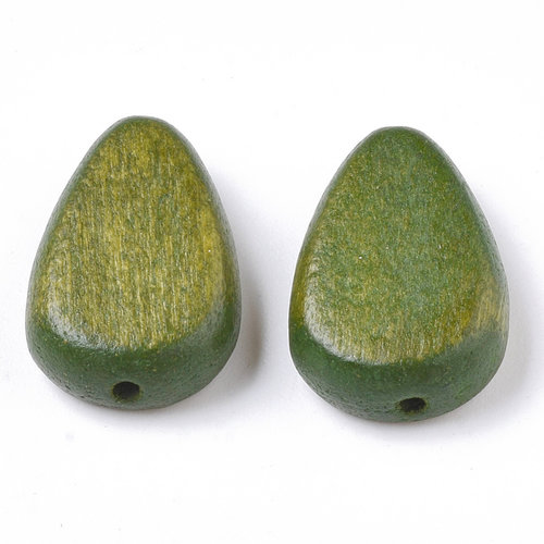 5 pieces Natural Wooden Beads Teardrop Olive 18x12mm