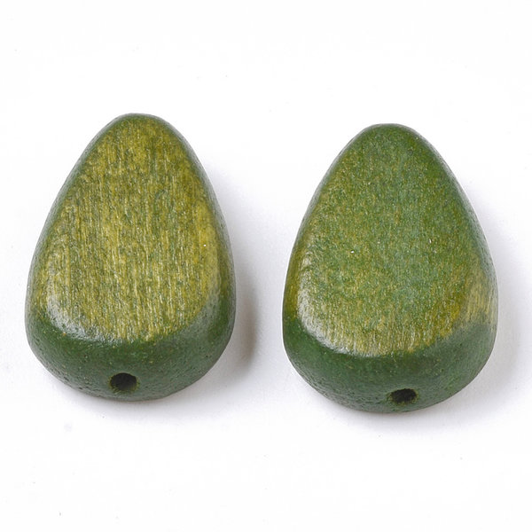 Natural Wooden Beads Teardrop Olive 18x12mm, 5 pieces