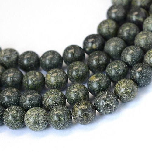 Natural Serpentine Beads 8mm, strand 40 pieces