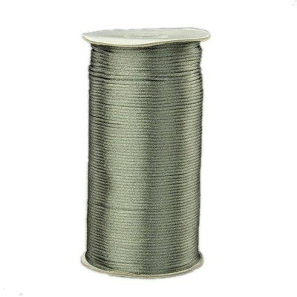 Satin Cord Grey Green 2mm, 3 meter