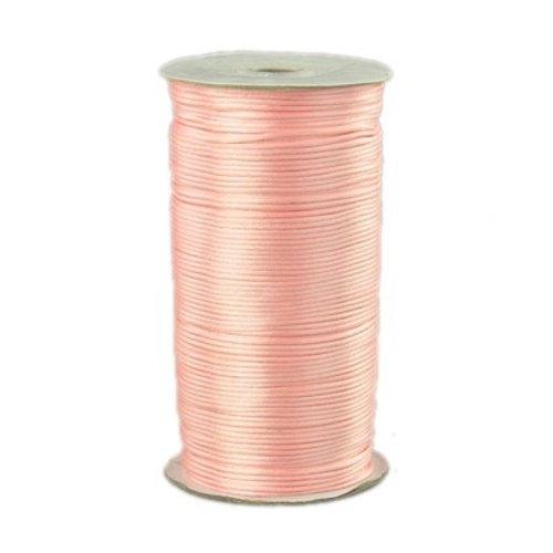 Satin Cord Pale Pink2mm, 3 meter