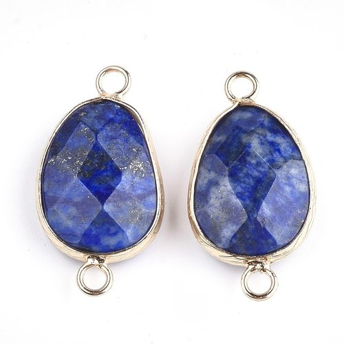 Natural Lapis Lazuli 25x13mm Nikkelvrij Tussenzetsel