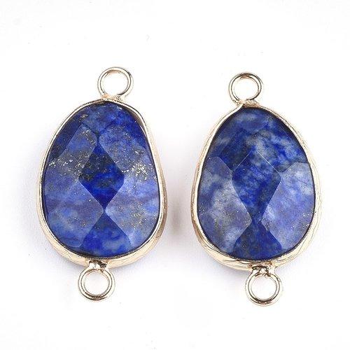 Natural Lapis Lazuli  Link 25x13mm Nickel Free
