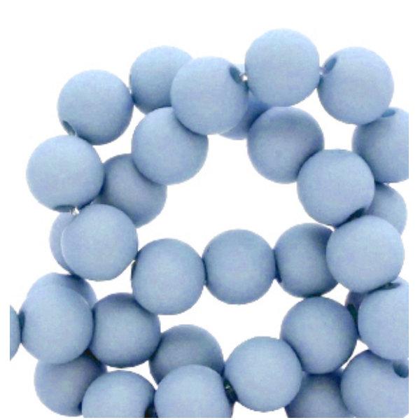 100 pieces Matte Jeans Blue Acrylic Beads 6mm