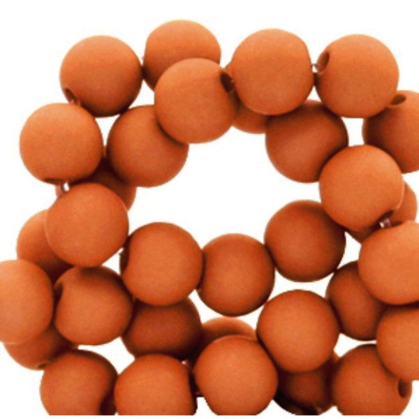 100 pieces Matte Terracotta Acrylic Beads 6mm