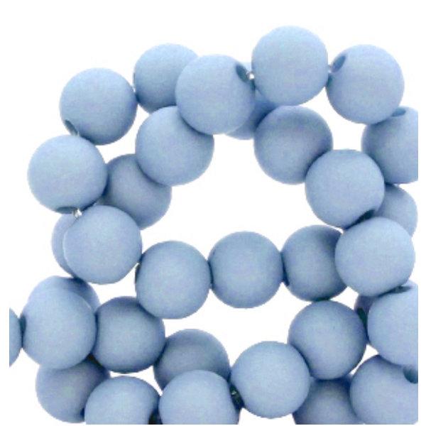 200 pieces Matte Jeans Blue Acrylic Beads 4mm