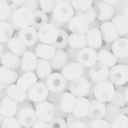 10 grams Miyuki Seed Beads 4mm 6/0 Opaque White