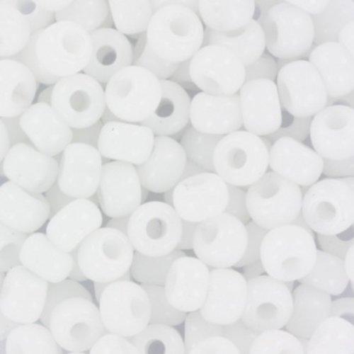 10 gram Miyuki Rocailles 4mm 6/0 Opaque White