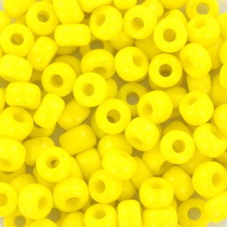 10 grams Miyuki Seed Beads 4mm 6/0 Opaque Yellow