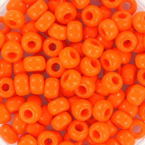 10 gram Miyuki Rocailles 4mm 6/0 Opaque Orange