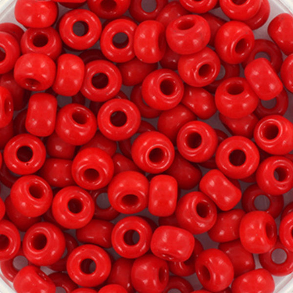 Miyuki Seed Beads 4mm 6/0 Opaque Red, 10 grams