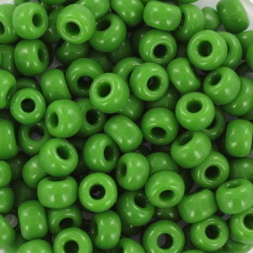 10 gram Miyuki Rocailles 4mm 6/0 Opaque Green