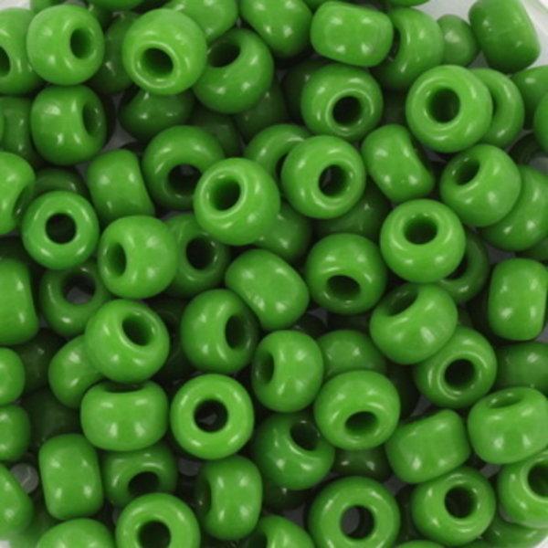 Miyuki Rocailles 4mm 6/0 Opaque Green, 10 gram
