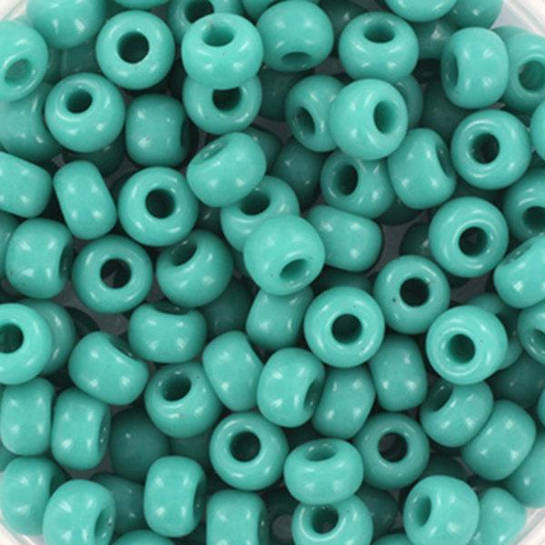 Miyuki Rocailles 4mm 6/0 Opaque Turquoise Green, 10 gram