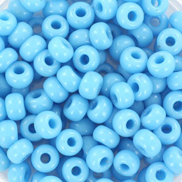 Miyuki Rocailles 4mm 6/0 Opaque Turquoise Blue , 10 gram