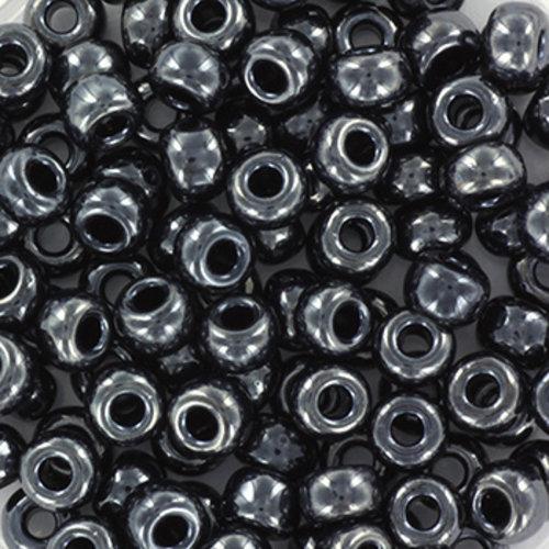 10 gram Miyuki Rocailles 4mm 6/0 Metallic Gunmetal