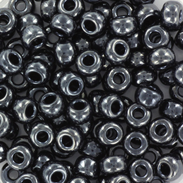 Miyuki Seed Beads 4mm 6/0 Metallic Gunmetal , 10 grams