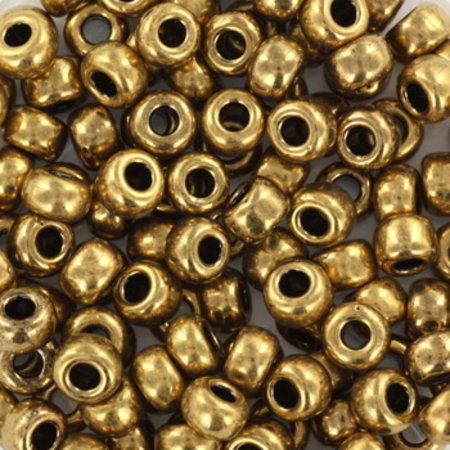 10 grams Miyuki Seed Beads 4mm 6/0 Metallic Dark Bronze