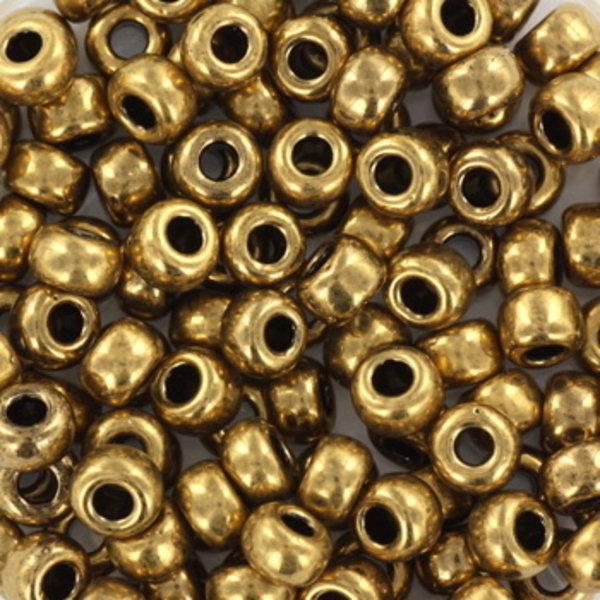 Miyuki Rocailles 4mm 6/0 Metallic Dark Bronze , 10 gram