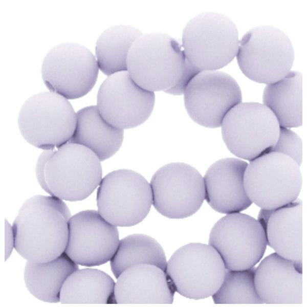 100 pieces Matte Dusty Mauve Acrylic Beads 6mm