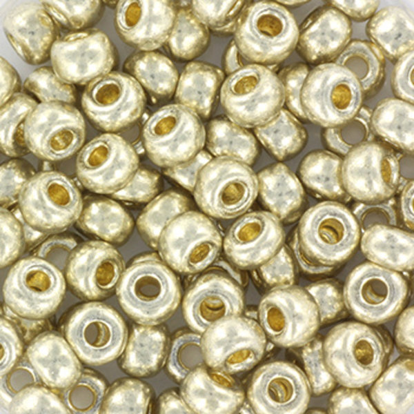 Miyuki Rocailles 4mm 6/0 Duracoat Galvanized Silver, 10 gram