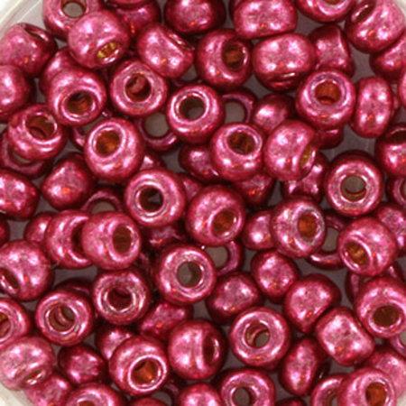10 grams Miyuki Seed Beads 4mm 6/0 Duracoat Galvanized Magenta