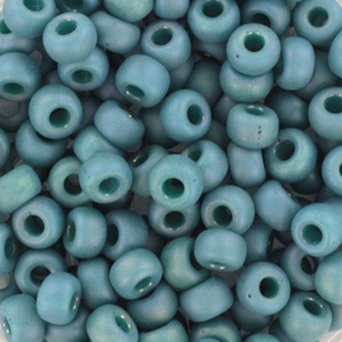 10 grams Miyuki Seed Beads 4mm 6/0 Opaque Glazed Frosted Rainbow Peacock