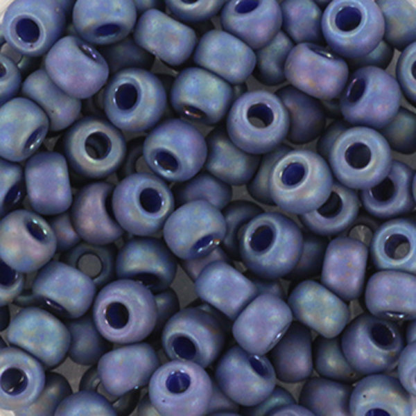 Miyuki Seed Beads 4mm 6/0 Opaque Glazed Frosted Rainbow Bayberry, 10 grams
