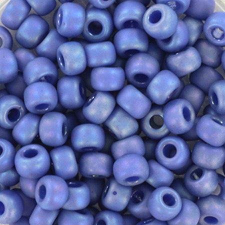 10 gram Miyuki Rocailles 4mm 6/0 Opaque Glazed Frosted Rainbow Soft Blue
