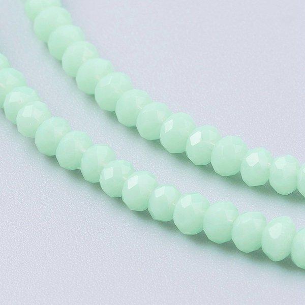 Facetkralen Mint Groen 3x2.5mm, 80 stuks