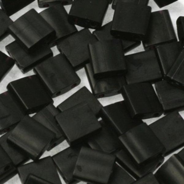 Miyuki Tila 5x5mm Opaque Matte Black, 35 Stuks