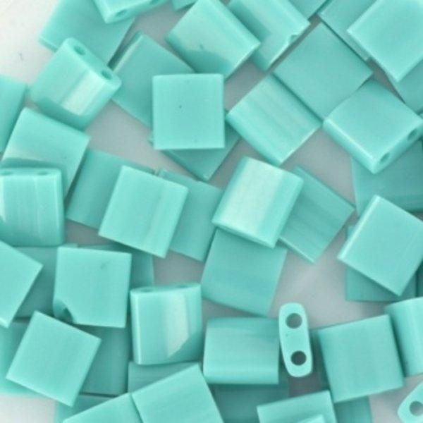 Miyuki Tila 5x5mm Opaque Turquoise Green, 35 Pieces