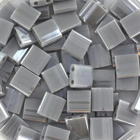 35 Stuks Miyuki Tila 5x5mm Opaque Luster Gray