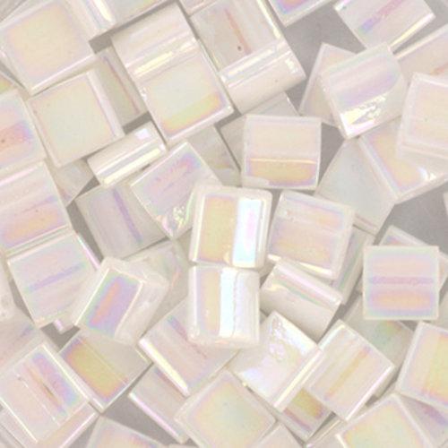 35 Stuks Miyuki Tila 5x5mm Ab White Pearl