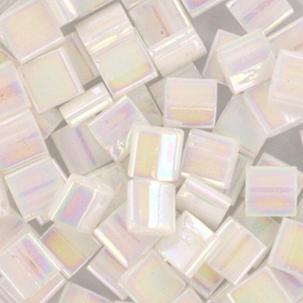 Miyuki Tila 5x5mm Ab White Pearl, 35 Pieces