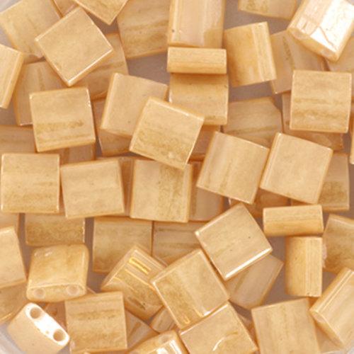 35 Pieces Miyuki Tila 5x5mm Ceylon Light Caramel