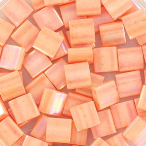 35 Pieces Miyuki Tila 5x5mm Opaque Luster Tea Rose